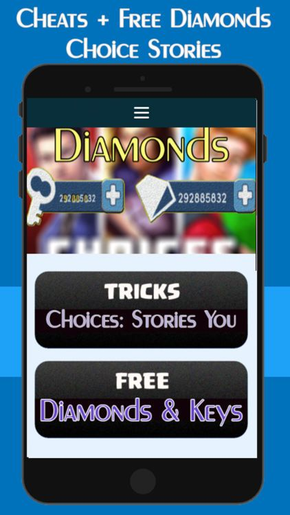 How To Get Free Diamonds And Keys On Choices Stories You Play Without Waiting Choices Stories You Play Hack Choices Stories You Play Hack And Cheats C Elmas