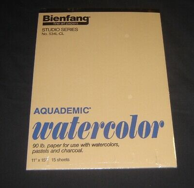 Vintage Bienfang Studio Series 534l Cl 90 Lb Watercolor Paper