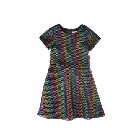 b671e5f1a2a8 Ivy  Short Sleeve Dress in Metallic Prism - 6Y