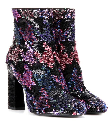 fdae0ca1675 ROGER VIVIER Bootie Chunky sequin-embellished ankle boots ...