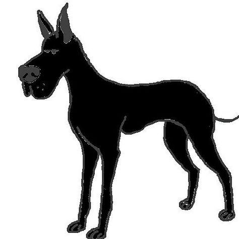 Black Great Dane Cartoon Black Great Danes Great Dane Dane