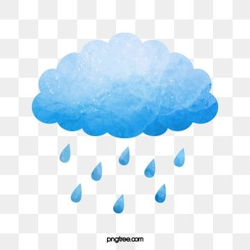 Rain Watercolor Clouds Umbrella Illustration Creative Illustration