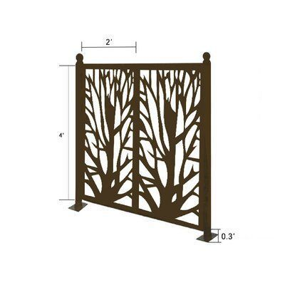 E Joy 4 2 Ft H Ejoy Metal Fence Panels Metal Fence Wrought Iron Fences