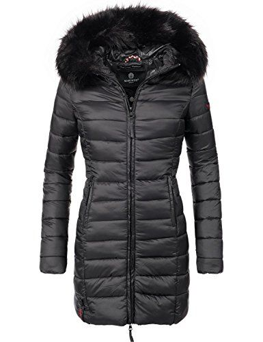 sale retailer e976a 787b4 Marikoo Damen Winter-Mantel Steppmantel Rose (vegan ...