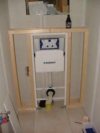 Pose Du Wc Suspendu Renovation D Une Annexe Meuble Wc Suspendu Amenagement Wc Amenagement Toilettes