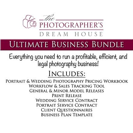 Ultimate Business Bundle For Only $54! Includes Portrait U0026 Wedding  Photography Pricing Workbook, Workflow U0026 Sales Tracking Tool, General U0026  Minor Mou2026