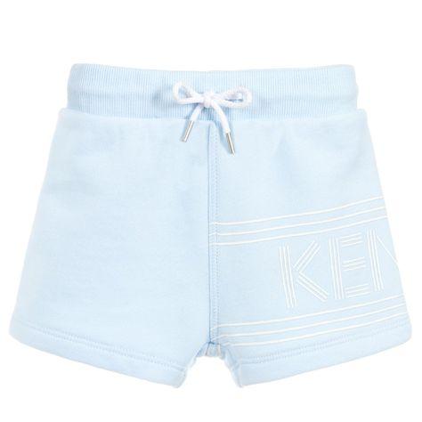 302c67b026e1 Pale blue shorts for little boys by Kenzo Kids