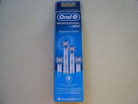 Oral B Precision Clean 4 Brush Heads Vitality Triumph Advance Power 3d Excel Oral B Better Cleaning Cleaning