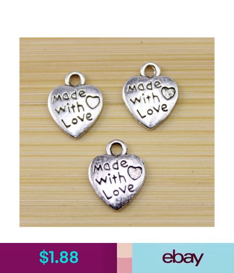 50//100//200 pcs Very cute heart Tibet silver charm pendant  12x10 mm wholesale
