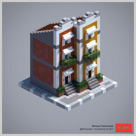 2017 ChunkWorld (Redux) Townhouse, Minecraft ideas and Minecraft - minecraft schlafzimmer modern
