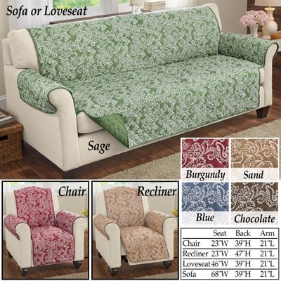 Paisley Reversible Furniture Protector Furniture Covers Furniture Loveseat Love Seat