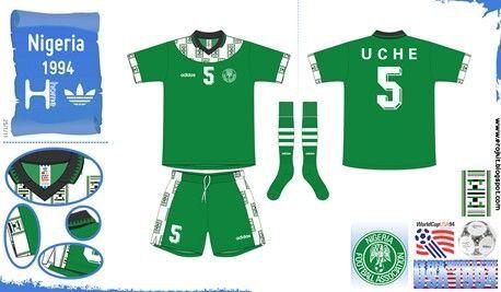 Nigeria Home Kit For The 1994 World Cup Finals Camisas De Futebol Futebol Uniforme