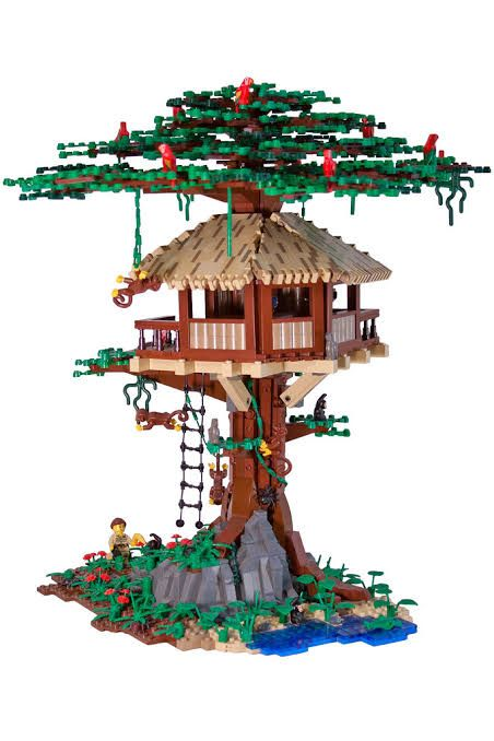 Pin By Dedicated Not Obsessed On Lego Creations Lego Tree House Lego Tree Lego Furniture