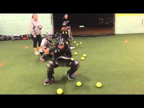 Last Man Standing At Jen Schro Catching Clinic Dec 22 2014 Youtube Softball Catcher Drills Softball Drills Softball