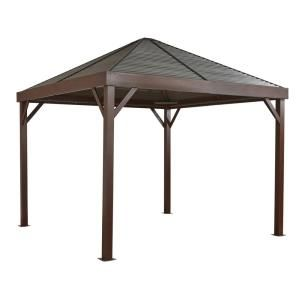 Yardistry Yardistry 12 Ft X 12 Ft Meridian Gazebo Ym11769 In 2020 Aluminum Gazebo Steel Roof Panels Gazebo