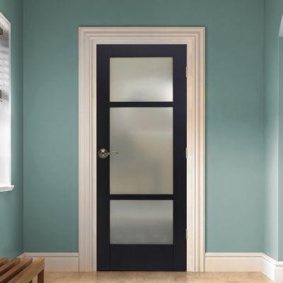 Reliabilt 32x96 In 1 Panel Privacy Glass Shaker Slab Universal Smooth Primed Bore At Lowes Com Bifold Door Hardware Glass Doors Interior Doors Interior