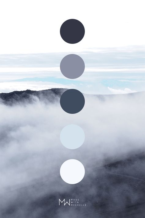 Muted blue color palette inspired by nature. Photo taken in Haleakala National Park on Maui Hawaii. Dark Color Palette, Nature Color Palette, Blue Colour Palette, Muted Colors, Colour Schemes, Dark Colors, Color Palettes, Natural Colors, Aesthetic Colors