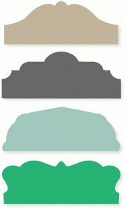 Silhouette Design Store - View Design #39369: decorative tab set