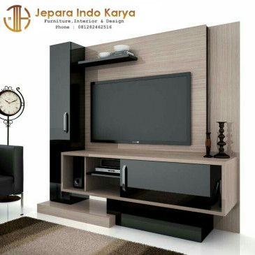 Partisi Tv Ruang Tamu Desain Interior Modern