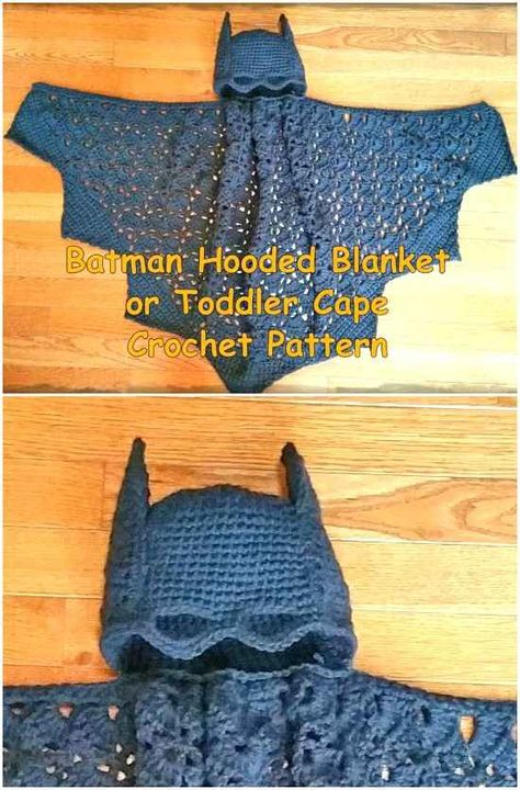 We've rounded up a number of fun Crochet Batman Items that you will be keen to make. Find Batman Blanket, Batman Figure, Batman Mask to name a few. Crochet Lovey, Manta Crochet, Crochet Bebe, Crochet For Boys, Crochet Gifts, Diy Crochet, Crochet Shirt, Crochet Cape Pattern, Crochet Blanket Patterns