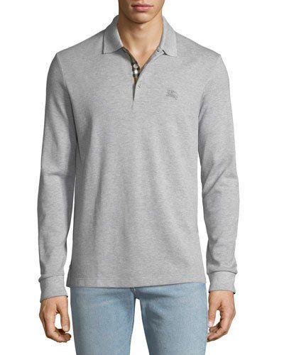 b8a8ac30 Burberry Men's Hartford Long-Sleeve Polo Shirt | Products | Long ...