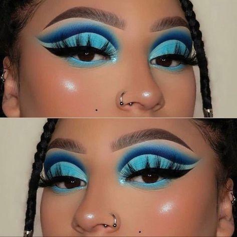 Dope Makeup, Edgy Makeup, Baddie Makeup, Makeup Eye Looks, Eye Makeup Art, Flawless Makeup, Makeup Goals, Pretty Makeup, Eyeshadow Makeup
