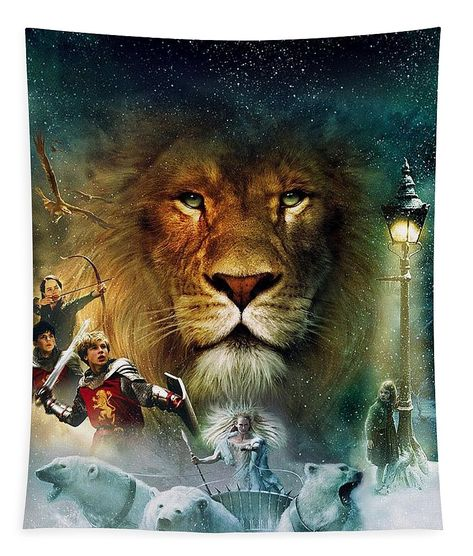 The Chronicles of Narnia The Lion Tapestry for Sale by Andrea Nichols