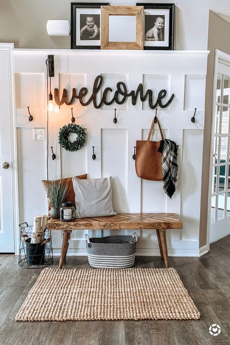 Entry Way Ideas Rustic Home Entry Way Ideas Rustic Home Carleyb Farmhouse Home Decor I m Loving entrywaydecor homedecor homedecorideas bohohome livingroomdecor masterbedroomideas masterbedroom livingroomideas nbsp hellip Living Room wall House, Interior, Home, Home Remodeling, House Interior, Living Room Wall, Apartment Decor, Home And Living, Rustic House