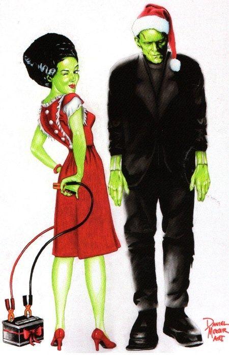 Frankenstein Christmas   Frankenstein's Monster & His Bride ...