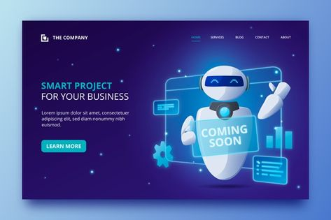 Download Artificial Intelligence Landing Page Template for free