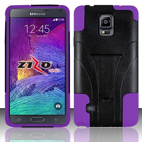 huge selection of c0a18 d60da SAMSUNG GALAXY NOTE 4 PINK BLK HYBRID KICKSTAND COVER SNAP ON HARD ...