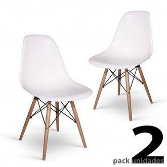 78 90 Pack 2 Sillas Eames Dsw Tower Style Blanco Replica De