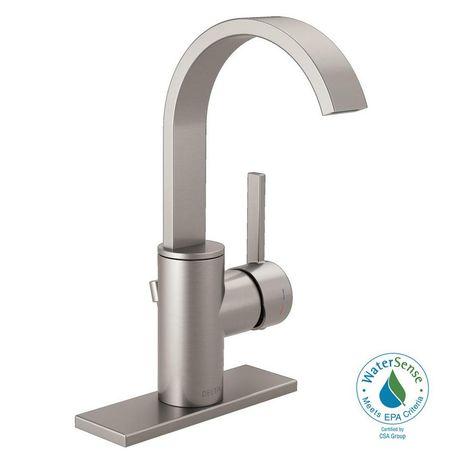 Delta Mandolin 4 In Centerset Single Handle Bathroom Faucet In