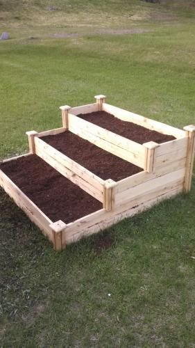 Greenes Fence 4 Ft X 4 Ft X 7 In Original Cedar Raised Garden Bed Rc 4c4 The Home Depot