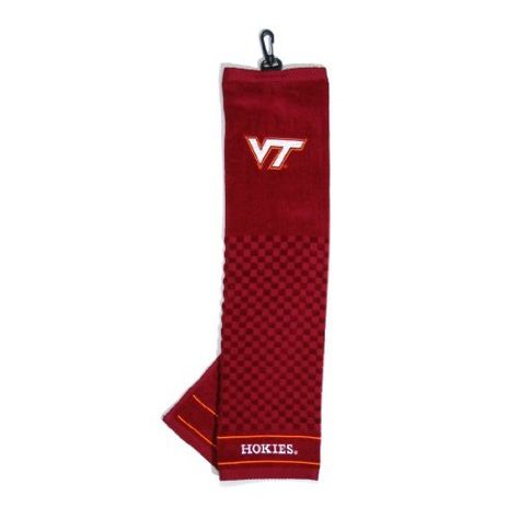 NCAA Virginia Tech Hokies Embroidered Team Golf Towel by Team Golf. Save 4 Off!. $16.25. Keep your clubs clean while supporting your favorite collegiate team with this officially licensed NCAA® embroidered golf towel from Team Golf. The tri-fold, embroidered towel features a hook and grommet and measures 16-in x 25-in.