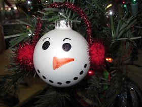 Snowman ornament  First Grade Fairytales: A HodPodge of Christmas Crafting Goodness & a FREEBIE! :)