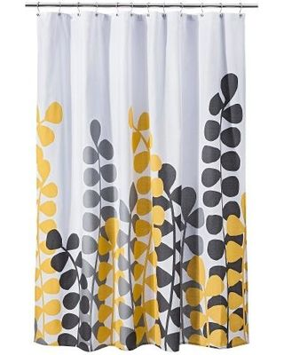 Shower Curtains Accessories, Yellow And White Shower Curtains