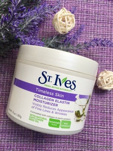 St Ives Timeless Skin Collagen Elastin Moisturizer Review The St Ives Collagen And Elastin Moisturize Skin Collagen Skin Care Wrinkles Collagen Moisturizer