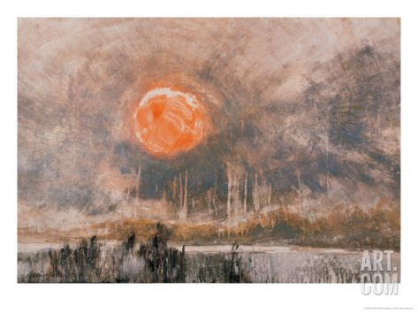 Fierce Sun Giclee Print by Wanqi Zhang at Art.com