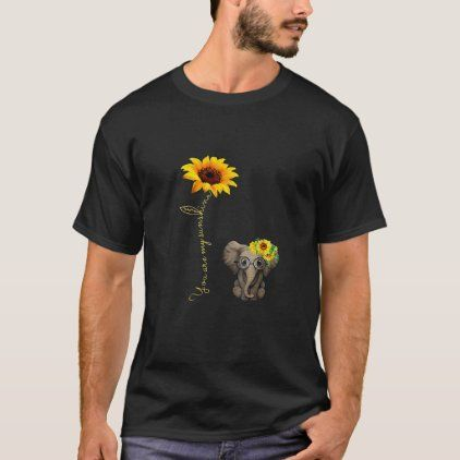 You Are My Sunshine Autism Awareness Sunflower Elephant Mom T-Shirt Birthday ...