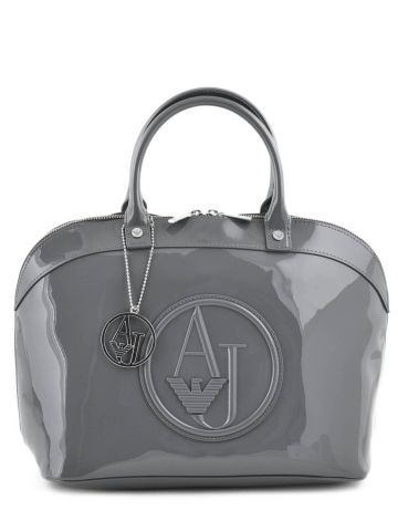 a09b75cf5e2 Sac Armani Jeans gris Vernice lucida