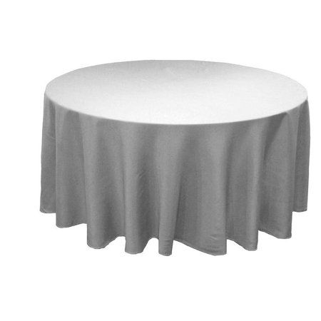 10 Pack 132 Inch Round Polyester Tablecloth 24 Color Table Cover Wedding Party Color Silver Gray Walmart Com Grey Tablecloths Round Tablecloth Table Cloth