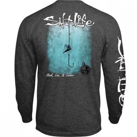 Salt Life Hook Line and Sinker long sleeve pocket tee