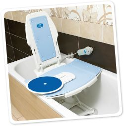 Deltis bath lift combined with a swivel and slide transfer aid for ...