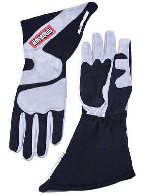 Details About Racequip Gloves Outseam Black Gray Medium Sfi 5 358603 Gloves Black Ebay