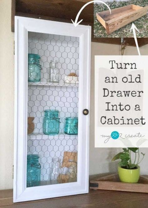Love this adorable chicken wire cabinet. Love all the ideas for chicken wire on this sight. #DIYHSH #DIYHomeSweetHome #DIY #Tutorials #Farmhouse #HomeDecor #ForTheHome Farmhouse Home Decor  DIYHSH DIY Home Sweet Home DIY Tutorials