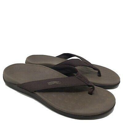 Aleader Mens Flip Flops Sandals Arch Support Summer Beach Slippers Brown 8 Dm Us Fashion Cl Leather Flip Flop Sandals Mens Leather Flip Flops Mens Flip Flops