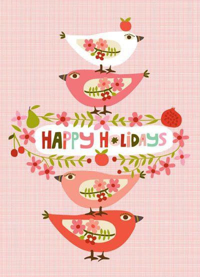 GREETING CARDS :: Holiday Cards :: NEW! Happy Holiday Partridges - Ecojot - eco savvy paper products