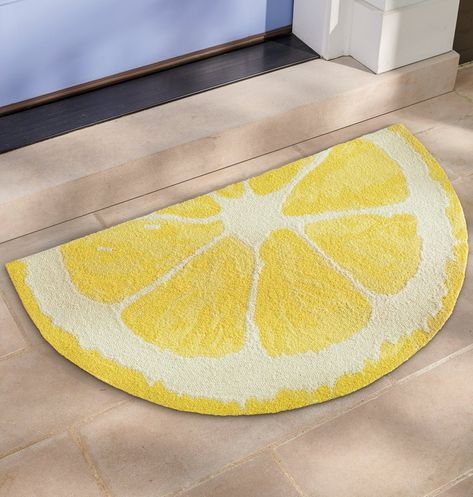 Our Lemon Slice Hooked Door Mat is handcrafted from durable polypropylene, so it's perfect outdoors or inside, it's easy to clean, and ideal for lots of busy foot traffic.