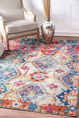 Rugs USA Multi Chroma Ancestral Floral Cascade rug - Traditional Rectangle 8' x 11'